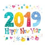 2019 hälsningkort för lyckligt nytt år