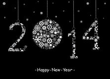 2014 hälsningkort för lyckligt nytt år. Arkivbilder