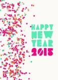 Hälsningkort 2015 för lyckligt nytt år Arkivfoto