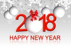Hälsningkort 2018 för lyckligt nytt år royaltyfri illustrationer
