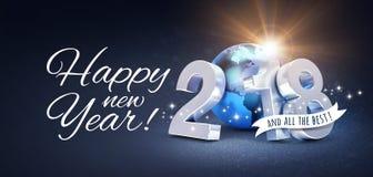 Hälsningkort 2018 för lyckligt nytt år för all bästa Arkivbild