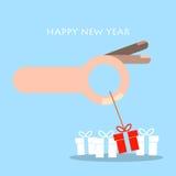 Hälsningkort för lyckligt nytt år och jul Royaltyfri Fotografi