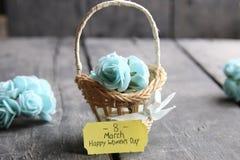 Hälsningkort för mars 8 Internationell kvinnas dag Royaltyfri Foto