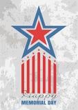 Hälsningkort för Memorial Day stock illustrationer