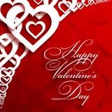 Hälsningkort för St Valentine's Arkivbilder