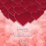 Hälsningkort för St Valentine's Fotografering för Bildbyråer