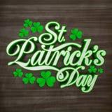Hälsningkort för Sts Patrick dagberöm Royaltyfri Fotografi