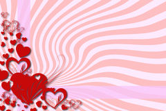 Hälsningkort för valentin dag Arkivfoton
