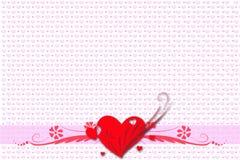 Hälsningkort för valentin dag Royaltyfria Foton