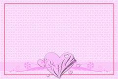 Hälsningkort för valentin dag Arkivbild