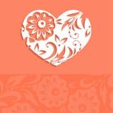 Hälsningkort för valentin dagvektor Arkivfoton