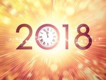 Hälsningkort 2018 i rätt tid stock illustrationer