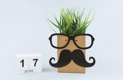 Hälsningkort 17. Juni som firar dag för fader` s Arkivfoton