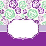 Hälsningkort med blom- bakgrund Fotografering för Bildbyråer