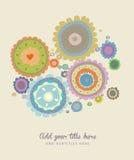 Hälsningkort med blomman Arkivfoto