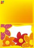 Hälsningkort med blommor Royaltyfri Bild