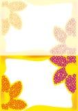 Hälsningkort med blommor Arkivfoto