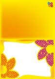 Hälsningkort med blommor Arkivfoton