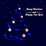 Hälsningkort med glad jul Arkivbild