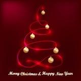 Hälsningkort med glad jul Royaltyfri Bild