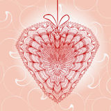 Hälsningkort med hjärtaform Royaltyfria Bilder