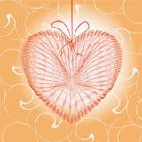 Hälsningkort med hjärtaform Royaltyfri Foto