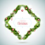 Hälsningkort med julattribut Arkivfoton