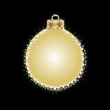 Hälsningkort med julbollar från stjärnor Arkivfoto