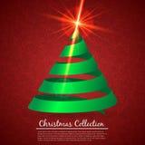 Hälsningkort med julträdet Royaltyfri Fotografi