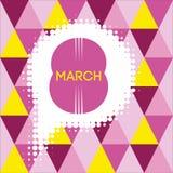 Hälsningkort med 8 kvinnors för mars Day_7 Fotografering för Bildbyråer