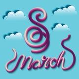 Hälsningkort med 8 kvinnors för mars Day_9 Royaltyfri Fotografi