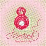 Hälsningkort med 8 kvinnors för mars Day_8 Royaltyfri Fotografi