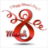 Hälsningkort med 8 kvinnors för mars Day_10 Arkivfoton
