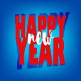 Hälsningkort med lyckligt nytt år för text vektor illustrationer