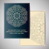 Hälsningkort med mandalaen Royaltyfri Fotografi