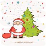 Hälsningkortdesign för berömmar för glad jul Royaltyfri Bild