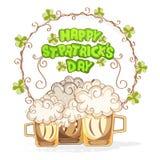 Hälsningkortdesign för Sts Patrick dagberöm Fotografering för Bildbyråer