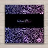 Hälsningkortuppsättning med abstrakt bakgrund Royaltyfri Foto