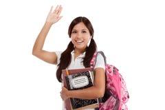 Hälsninglatinamerikanhögskolestudent Arkivfoto