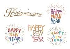 Hälsninglogo för lyckligt nytt år Royaltyfri Bild