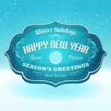 Hälsningsbaner för lyckligt nytt år och säsong Royaltyfri Fotografi
