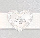 Hälsningskort. förälskelsehjärta inramar för valentindag eller wdding Royaltyfria Bilder