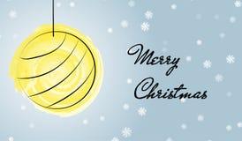 Hälsningskort för glad jul med vattenfärgborsten stock illustrationer