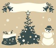 Hälsningskort för jul och för nytt år Royaltyfri Fotografi