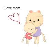 Hälsningskort för mom Arkivbild