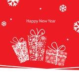 Hälsningskort för nytt år Arkivbild