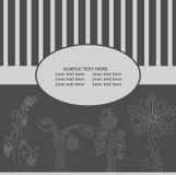 Hälsningskort med den fantastiska treen vektor illustrationer