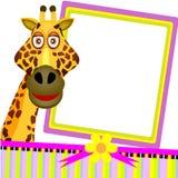 Hälsningskort single giraffet Royaltyfria Foton