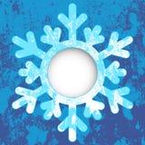 Hälsningskort - Snowflake royaltyfri illustrationer