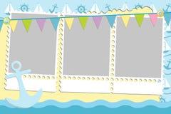 hälsningsmall för blankt kort vektor illustrationer